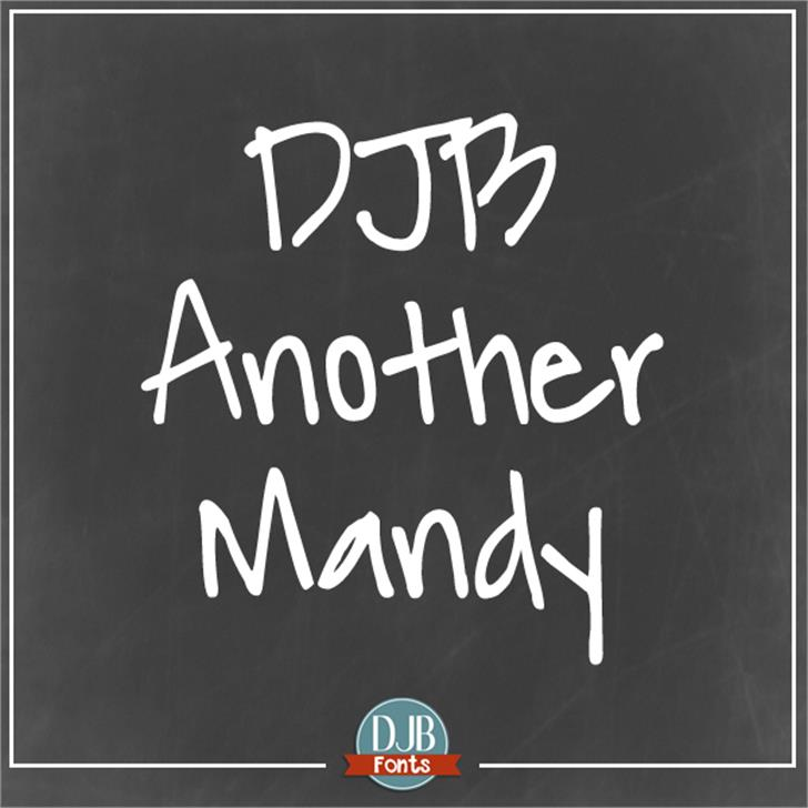 DJB Another Mandy Font handwriting text