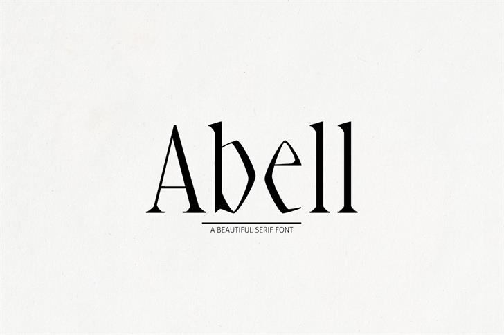 Abell Black Font design graphic