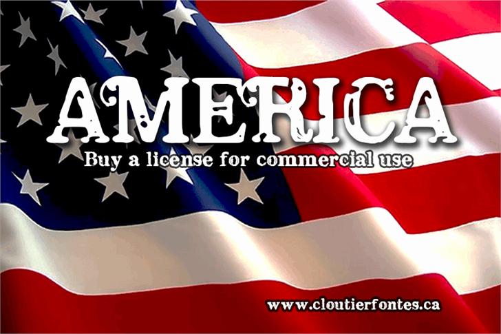 CF America Font poster design