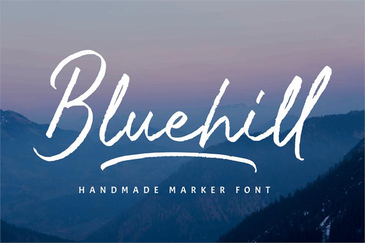 Bluehill Font poster