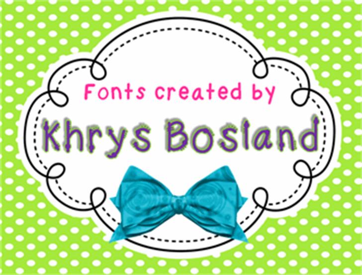 KBKinderWriteBold Font cartoon design