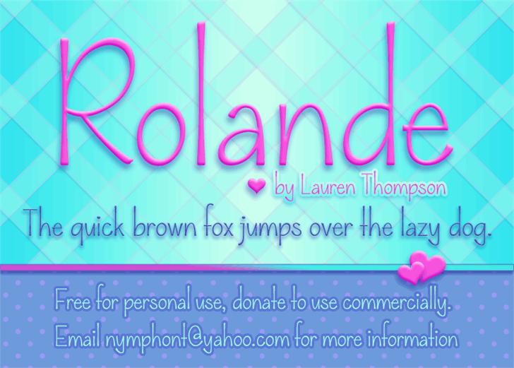 Rolande Font text banner
