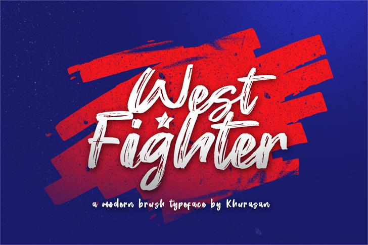 West Fighter Font poster