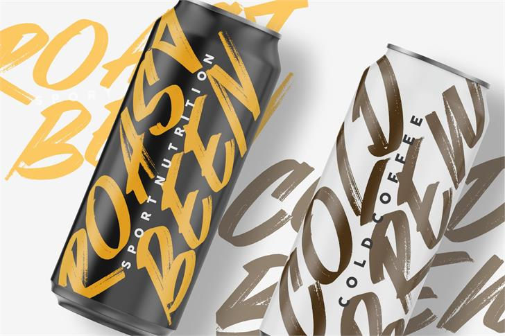 Webrush Font product packaging