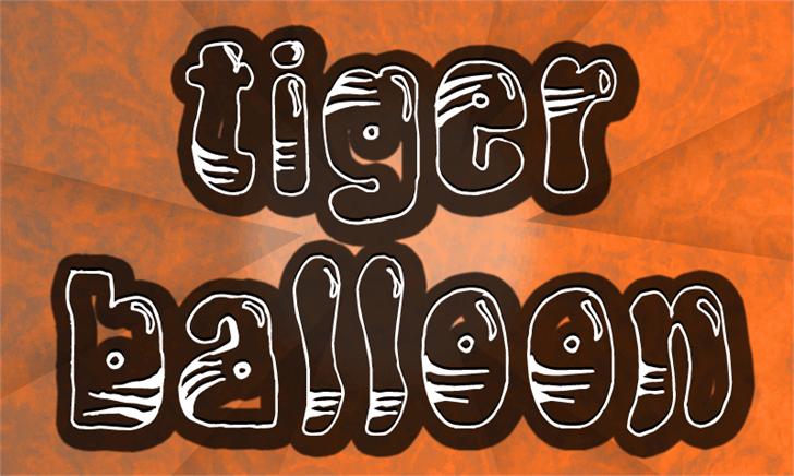 TigerBalloon Font cartoon design