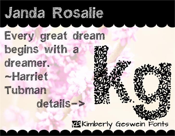 Janda Rosalie Font text design