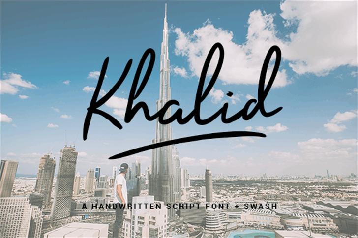 Khalid Personal Font sky skyscraper