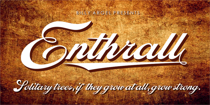 Enthrall Bold Personal Use Font text design