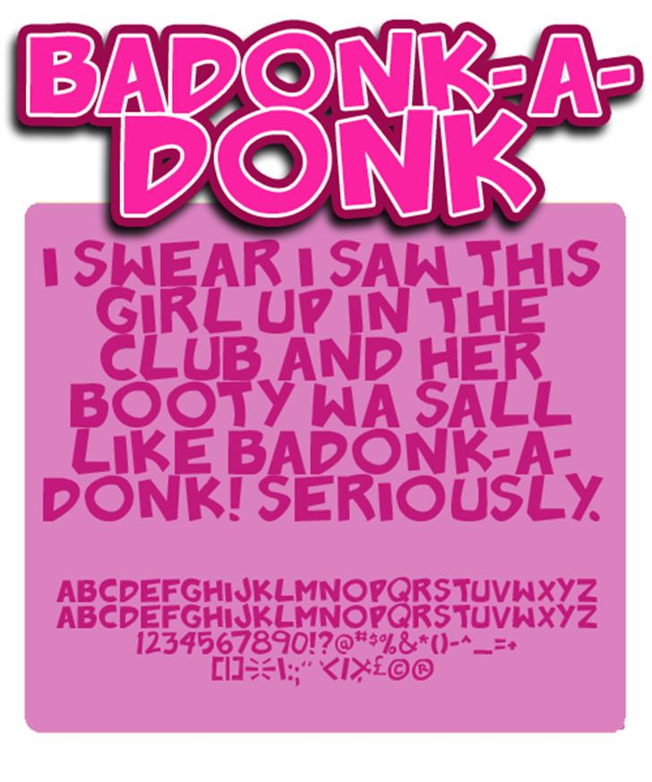Badonk-a-donk Font poster screenshot