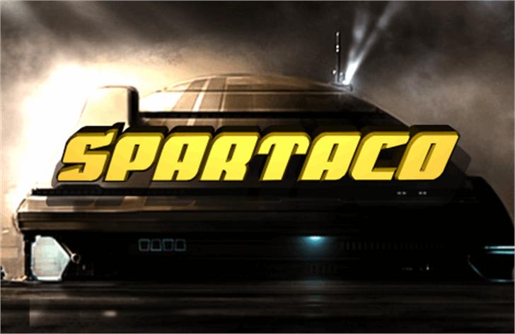 Spartaco Font screenshot sign