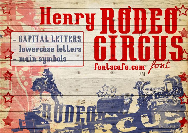 HenryRodeoCircus_demo Font poster text