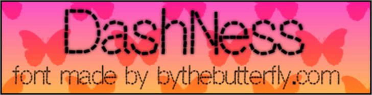 DashNess font by ByTheButterfly