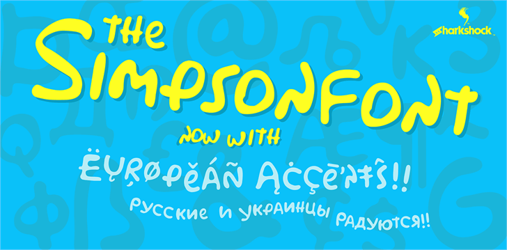 Simpsonfont design screenshot