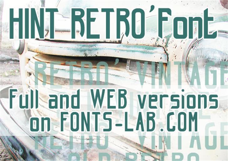 hint-retrò_free-version Font poster outdoor