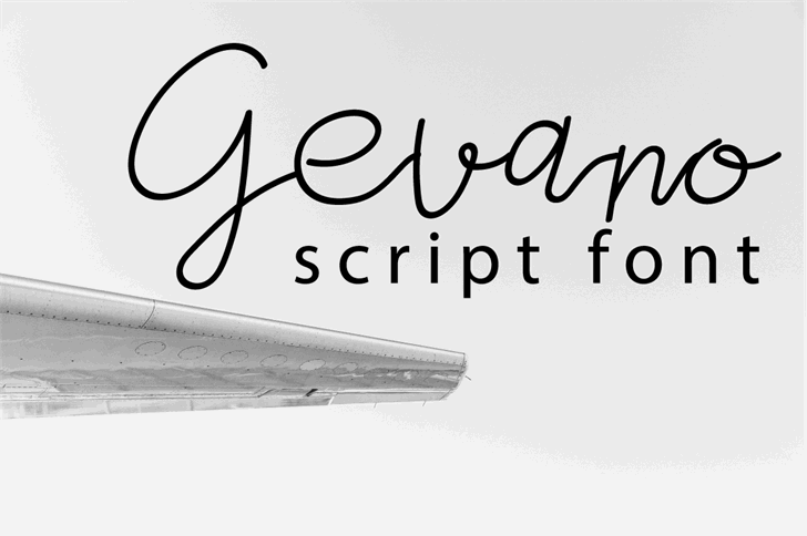 Gevano Font handwriting sketch