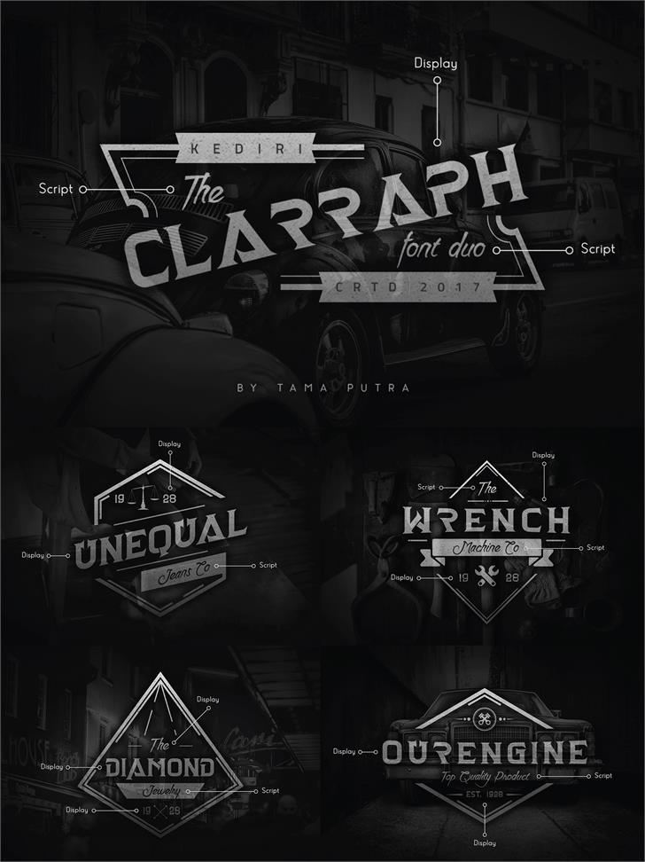 Clarraph Script Personal Use Font screenshot poster