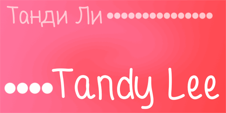 Tandy Lee Font graphic design