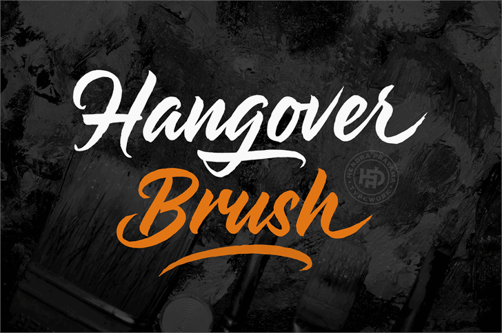 Hangover Brush Demo Font poster