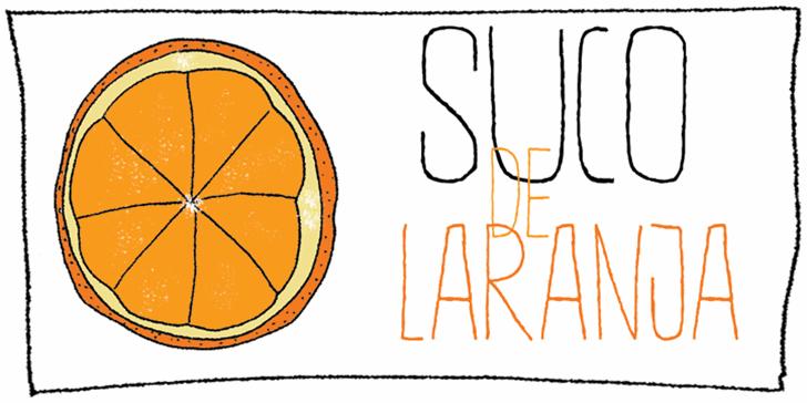DK Suco De Laranja Font text illustration