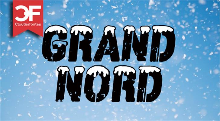CF Grand Nord Font poster cartoon