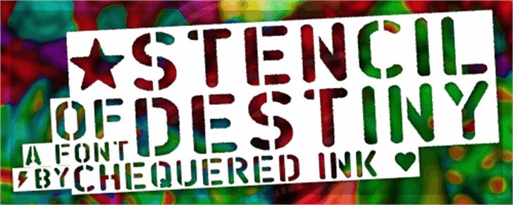 Stencil of Destiny Font poster text