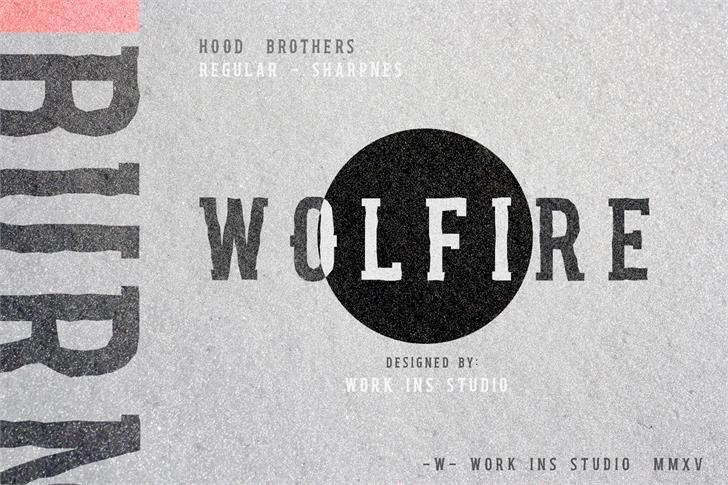 Hood Brothers Font poster design