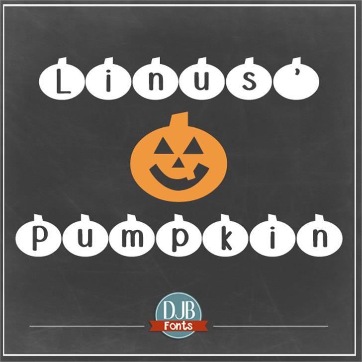 DJB Linus' Pumpkin Font screenshot design