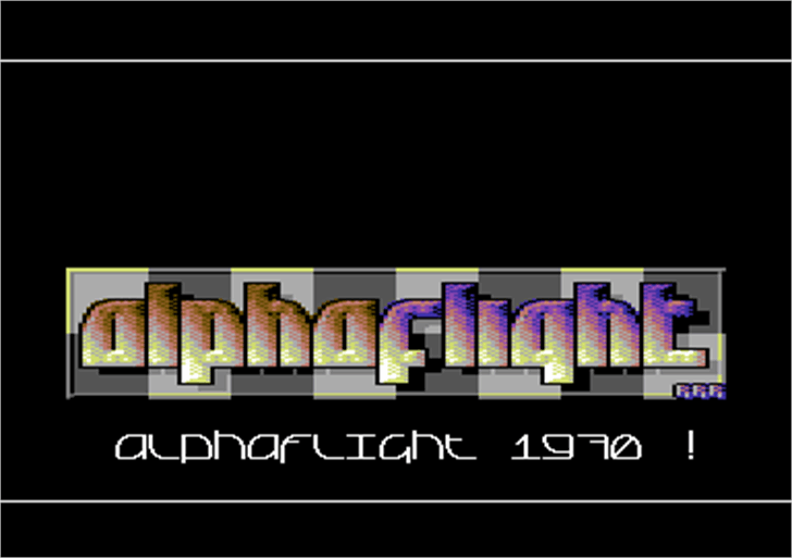 Alpha Flight Font design graphic