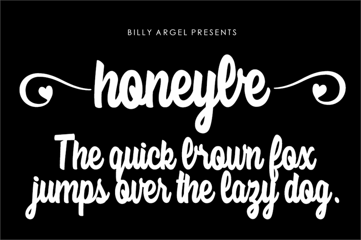 honeybe Font text