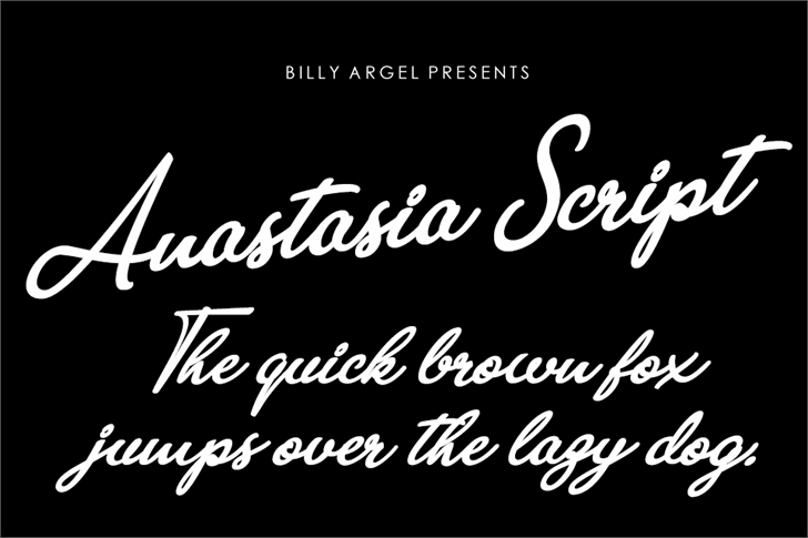 Anastasia Script Personal Use font by Billy Argel