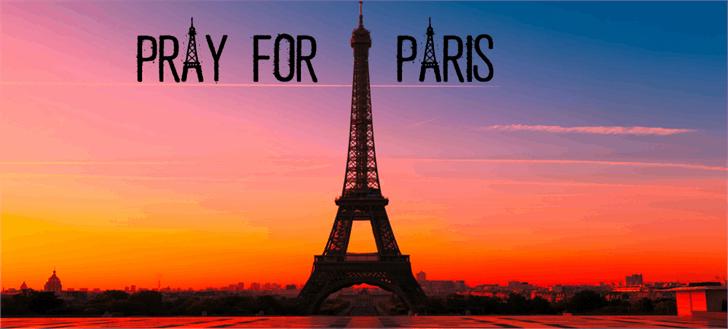 PRAY FOR PARIS Font sky outdoor