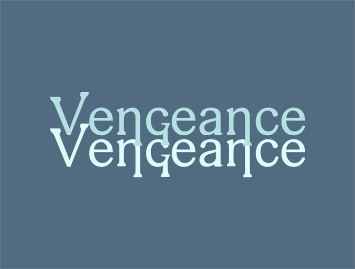 vengeance Font screenshot design