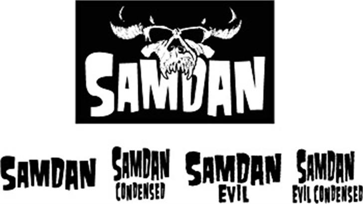 Samdan Font poster cartoon