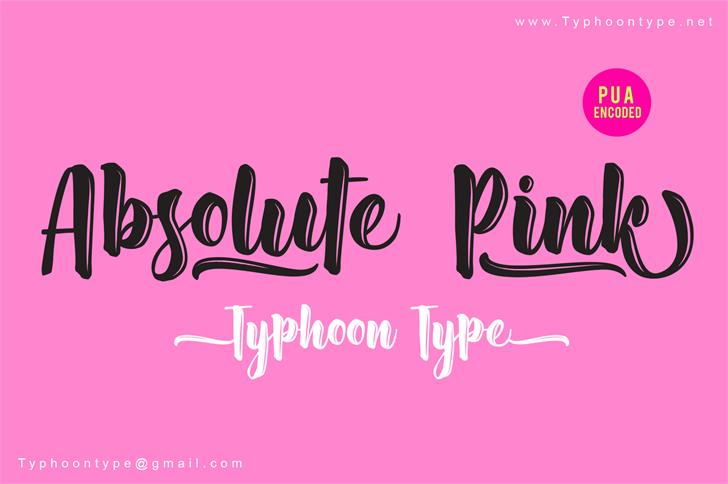 Absolute Pink - Personal Use Font handwriting magenta