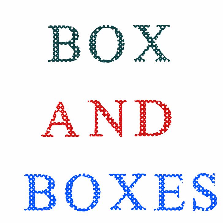 Box And Boxes Font design illustration