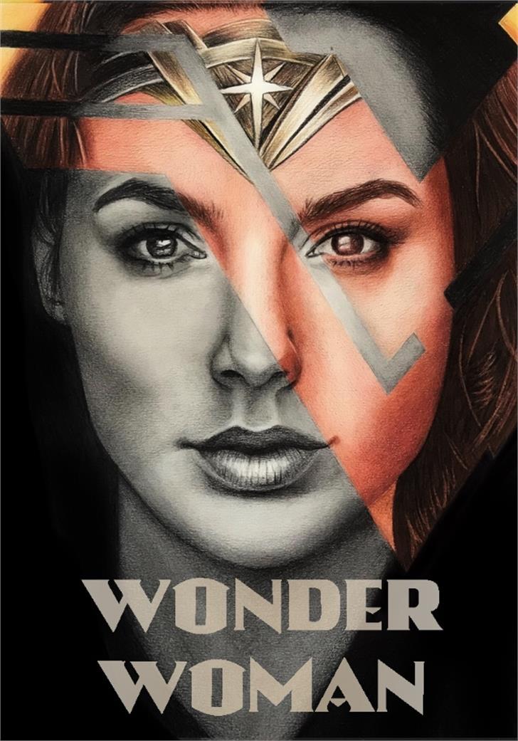 Wonder Font wearing poster