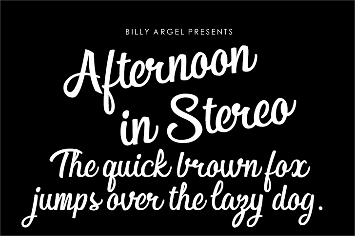 Afternoon in Stereo Personal Us Font text typography