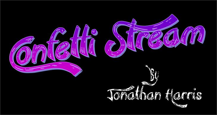 Confetti Stream font by Jonathan S. Harris