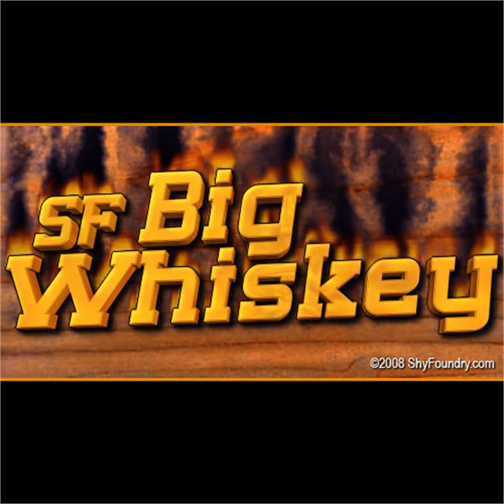 SF Big Whiskey Font screenshot text