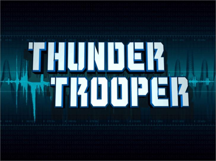 Thunder Trooper Font screenshot design