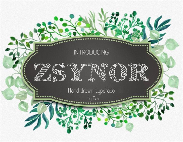 Zsynor Font design cartoon