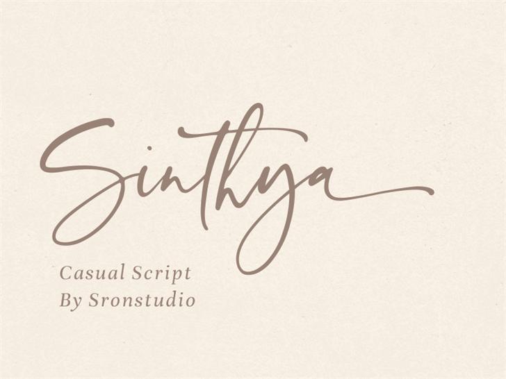 Sinthya Font handwriting