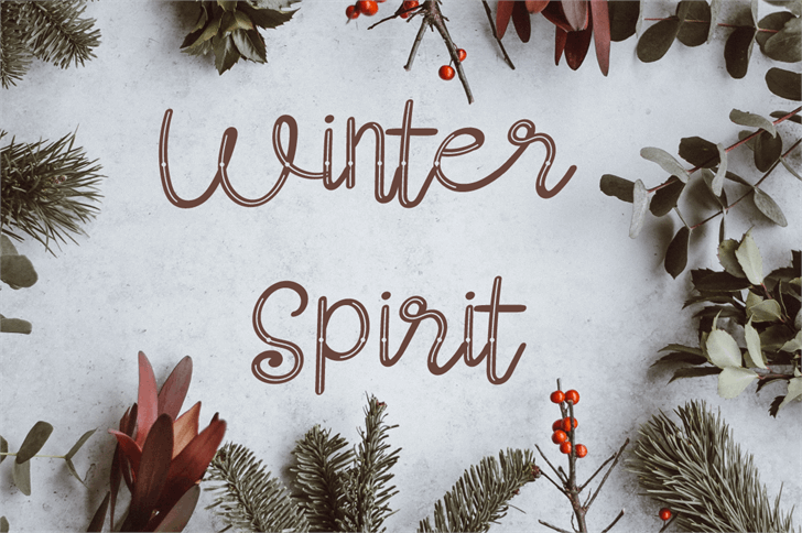 Winter Spirit-Slash Font tree plant
