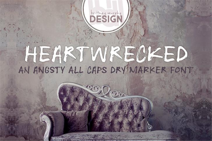 Heartwrecked Font text book