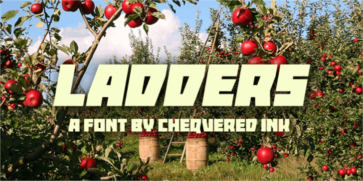 Ladders font by Chequered Ink