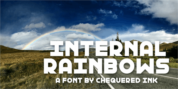 Internal Rainbows font by Chequered Ink