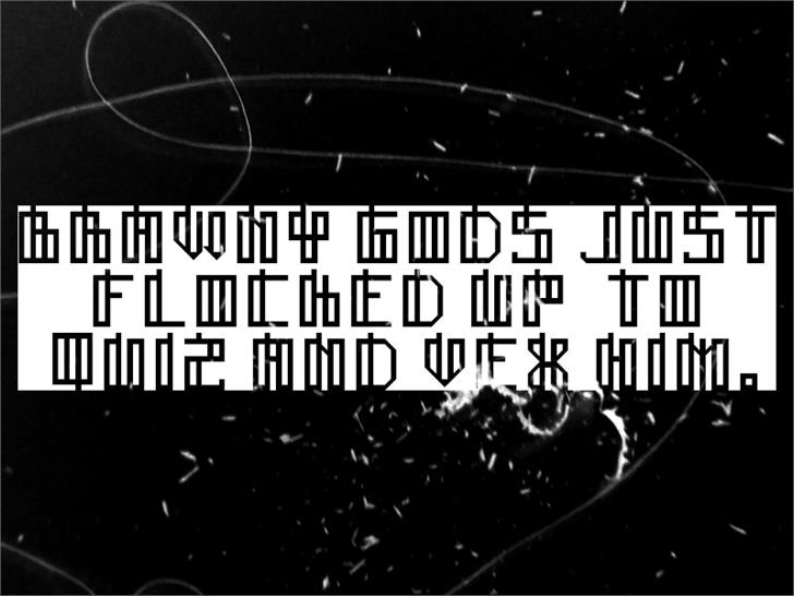 Lain Font screenshot black