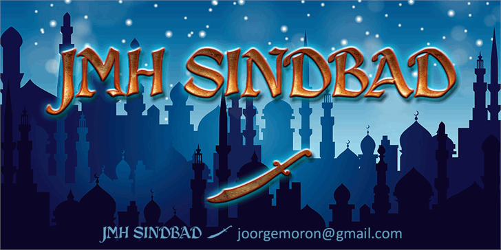 JMH Sindbad Font screenshot graphic
