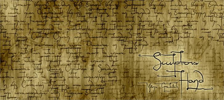 Sculptors Hand Font text handwriting