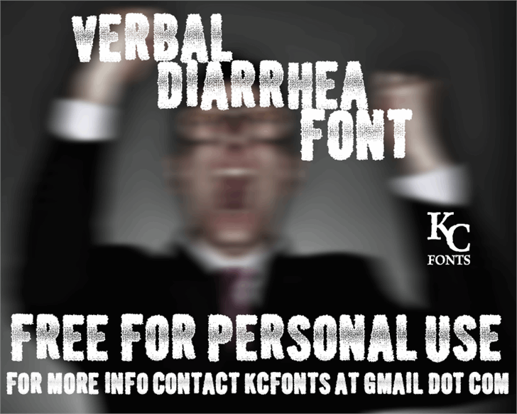 Verbal Diarrhea Font poster screenshot